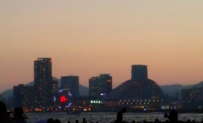 花火開始前の夜景